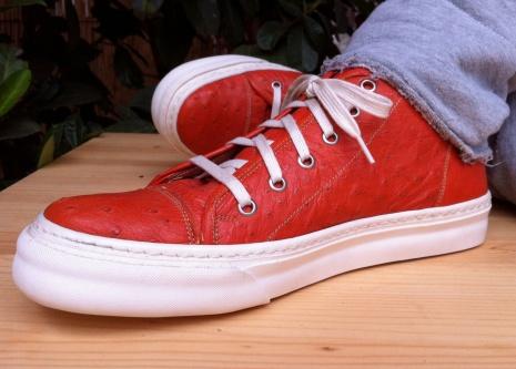 scarpe pelle di struzzo Il Cascinetto