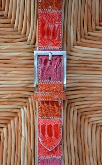 cintura rossa pelle di struzzo Il Cascinetto