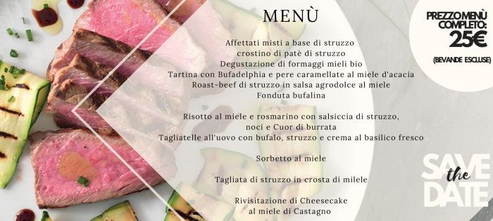 cena degustazione IL CASCINETTO STRUZZO